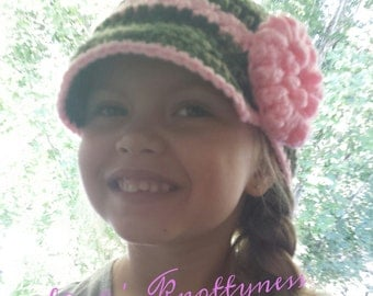 Crochet Child's Newsboy hat pattern