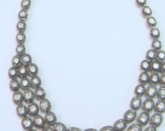 Victorian 34.85ct Antique Rose Cut Diamond Necklace, Free Shipping Worldwide