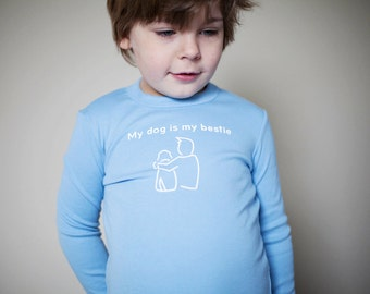 "Kids ""My Dog Is My Bestie"" Screen Printed Shirt"