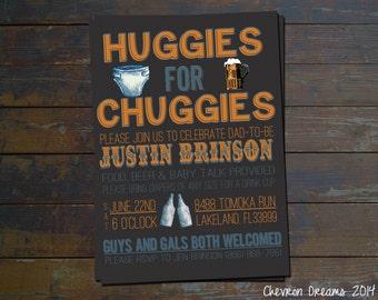 Huggies for Chuggies Diaper Party Invitation