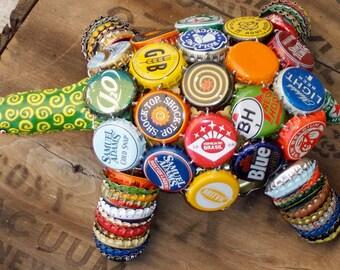 OOAK Handmade Trash/Recycled Outsider Art Folk Art Bottle Cap Turtle