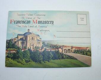 Vintage 1940s  Franciscan Monastery Washington, D. C. Souvenir Folder