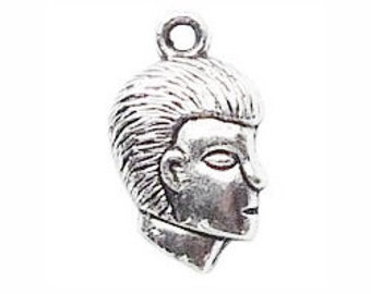 24 Silver Boy Silhouette Charm 18x11mm by TIJC SP0430