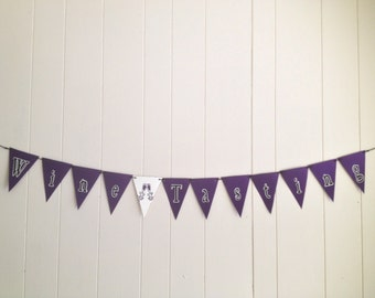 Wine Tasting Banner, Bridal Shower Banner, Bridal Shower Wine Tasting Banner, Vintage Banner/ Wine Room Decorations- Can be customized.