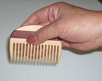 Wooden Comb, Handmade Wood Comb, Men Comb, Women Comb,  Beard Comb, Natural Hair Care, Convenient Size, Comfort Feel, Safe Natural Finish