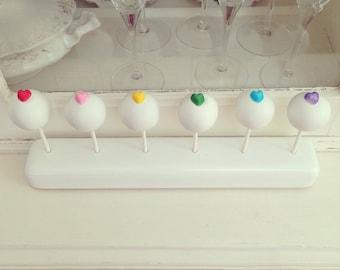 Rainbow Heart Cake Pops