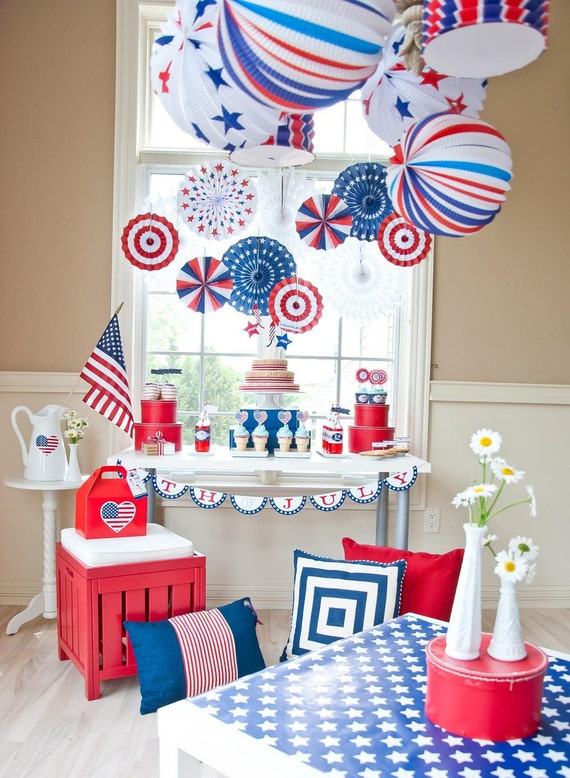 All american 4th of july party printables printable diy for American decoration ideas