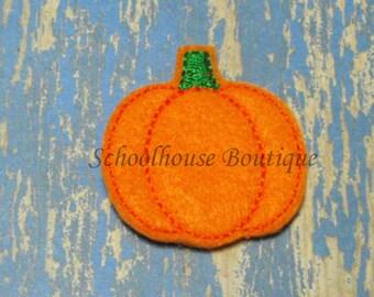 Pumpkin felties, feltie, Halloween, Thanksgiving, Fall Harvest, machine embroidered, felt applique, felt embellishment