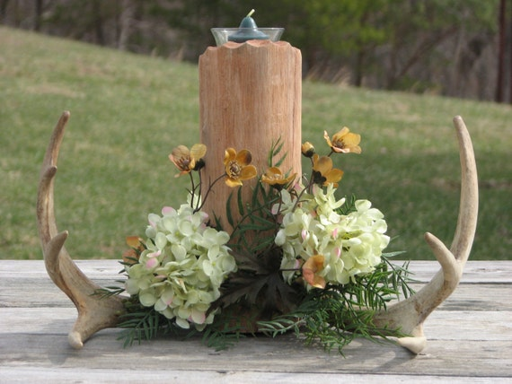 Deer Antler Centerpiece Camo Wedding Rustic Lodge