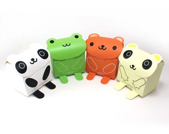 """4"""" Animal Gift Favor Boxes [Set of 12]"""
