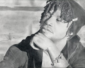 Graphite Drawing, Lupe Fiasco, Limited edition print