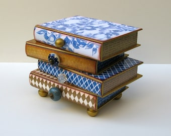 Book Box, Jewelry Box, Pile of Books, Stack of Books Treasure Box