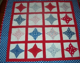 Red white and Blue Wall Hanging OR Table Cover