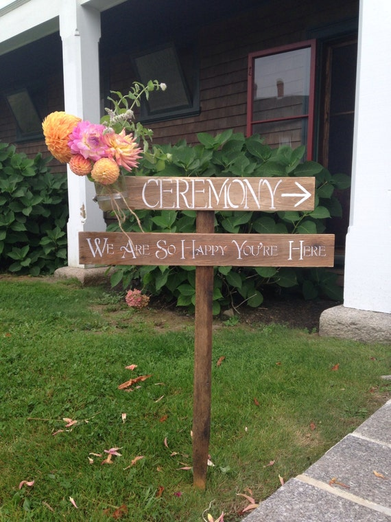 Jar Entrance rustic sign Stake on  Vase Sign entrance Ceremony Mason Rustic with Wedding