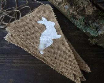 Easter Banner Easter Bunny Banner Rabbit Banner Easter Decor Bunny Bunting Bunny Garland Bunny Decor Spring Decor