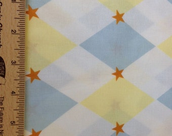 Annette Tatum fabric Little House Circus AT22 FROST yellow blue sewing quilting free spirit fabric 100% cotton fabric by the yard