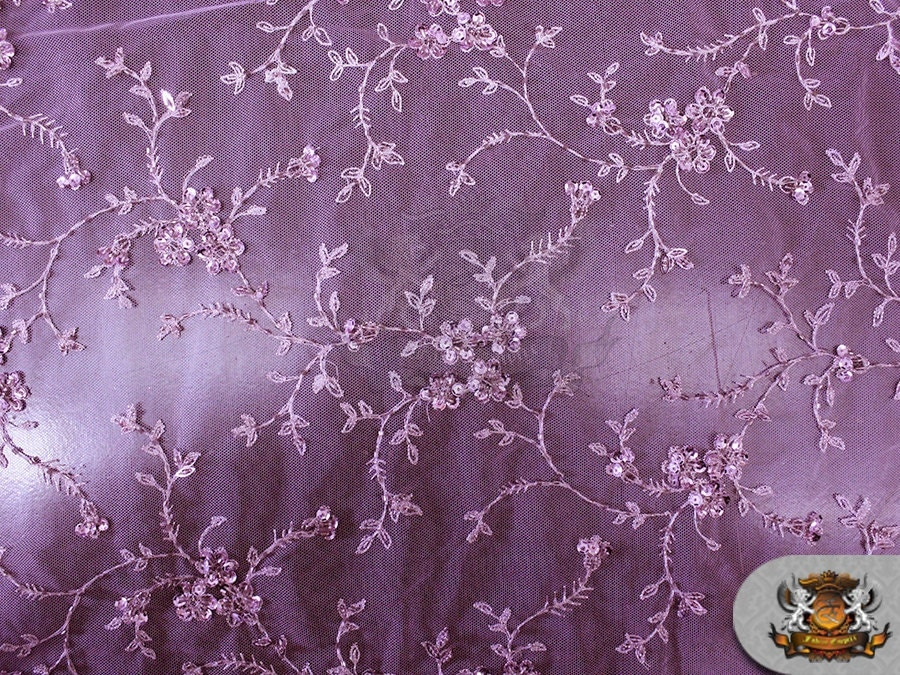 Mesh lace beads embroidered floral fabric willow by