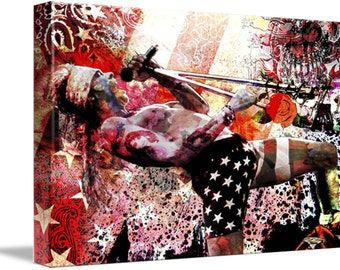 Axl Rose Canvas, Guns n' Roses Original Painting, GNR Canvas Art Print