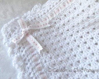 Crochet PATTERN 41 - Angel Series - Christening Blanket Pattern 41 - Baby blanket pattern Instant Download