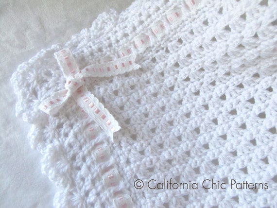 Crochet PATTERN 41 Angel Series Christening Blanket