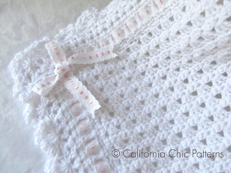Crochet Pattern 41  Angel Series  Christening Blanket Pattern 41  Baby  Blanket Pattern Instant