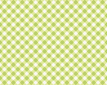 SUPER CLEARANCE! One Yard Hello Sunshine - Plaid in Green - Cotton Quilt Fabric - Lori Whitlock for Riley Blake (W580)