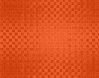 Fat Quarter Bugs - Hatchmarks in Orange - Cotton Quilt Fabric - by Jone Hallmark for Blend Fabrics (W1836)