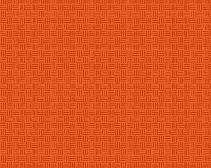 Fat Quarter Bugs - Hatchmarks in Orange - Cotton Quilt Fabric - by Jone Hallmark for Blend Fabrics (W1836)