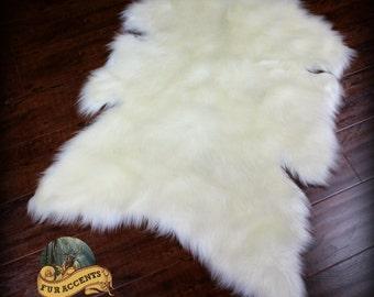 Fur Accents Buffalo Pelt Rug - Plush Faux Fur - Sheepskin Throw - Pelt - Hide - OOAK - Unique Style - Designer Quality