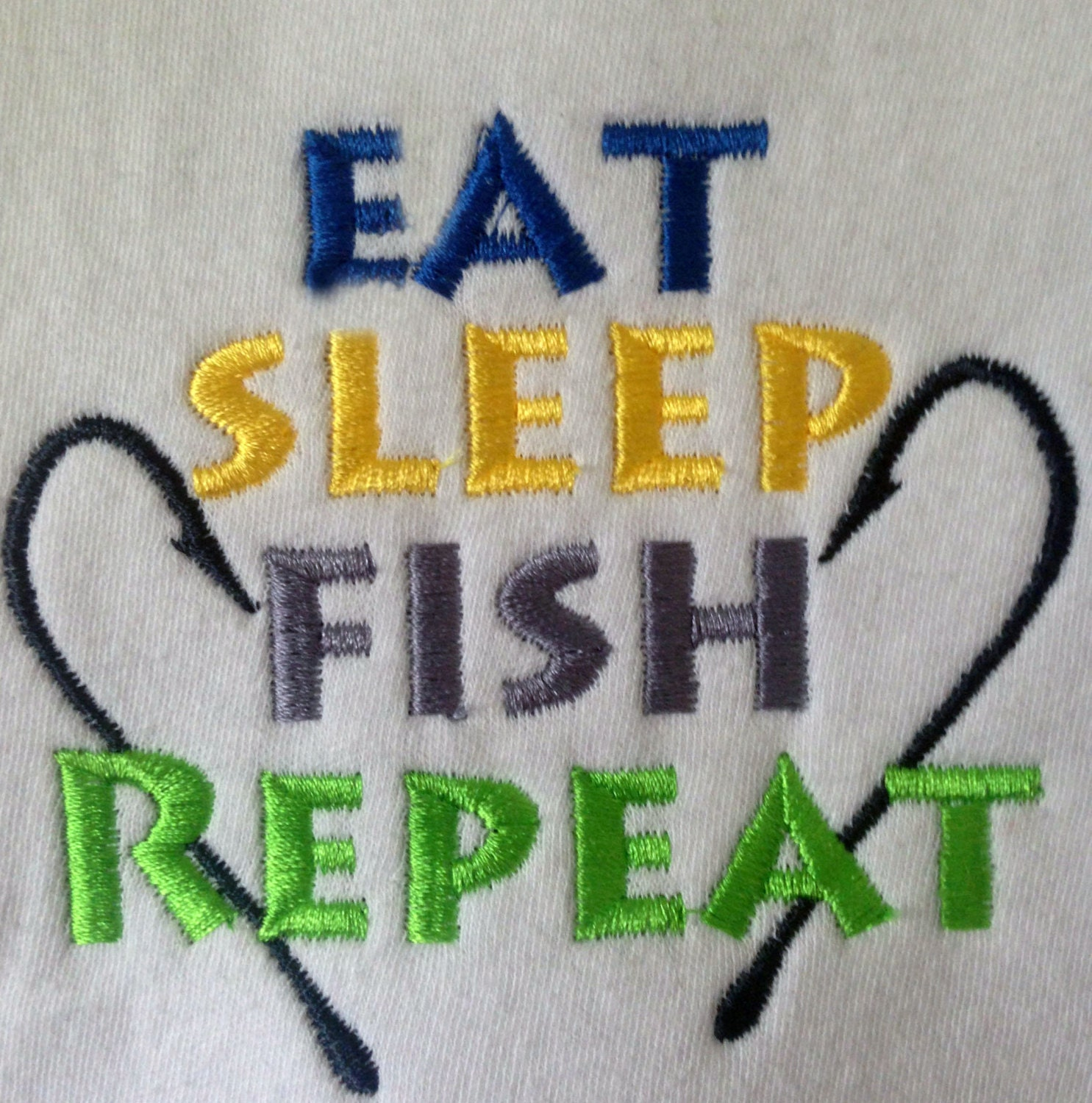 Embroidery Design: Eat Sleep Fish Repeat Fishing Instant ...