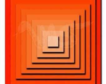 Oranssi pyramidi / Orange Pyramid, Digital drawing
