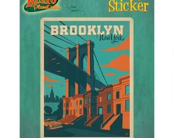 Brooklyn Bridge New York Vinyl Sticker - #47902