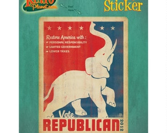 Republican Elephant Political Vinyl Sticker #47962