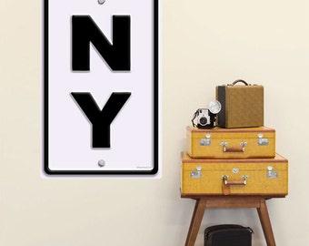 New York NY State Abbreviation Wall Decal #52814