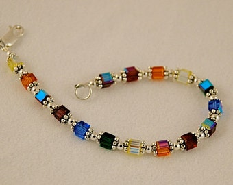 Swarovski Crystal & Silver Bracelet - Daisy