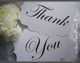 Thank You sign - Thank You Wedding Prop - Thank You Card Sign - Photbooth Sign - Personalized Wedding Sign (Set of 2)