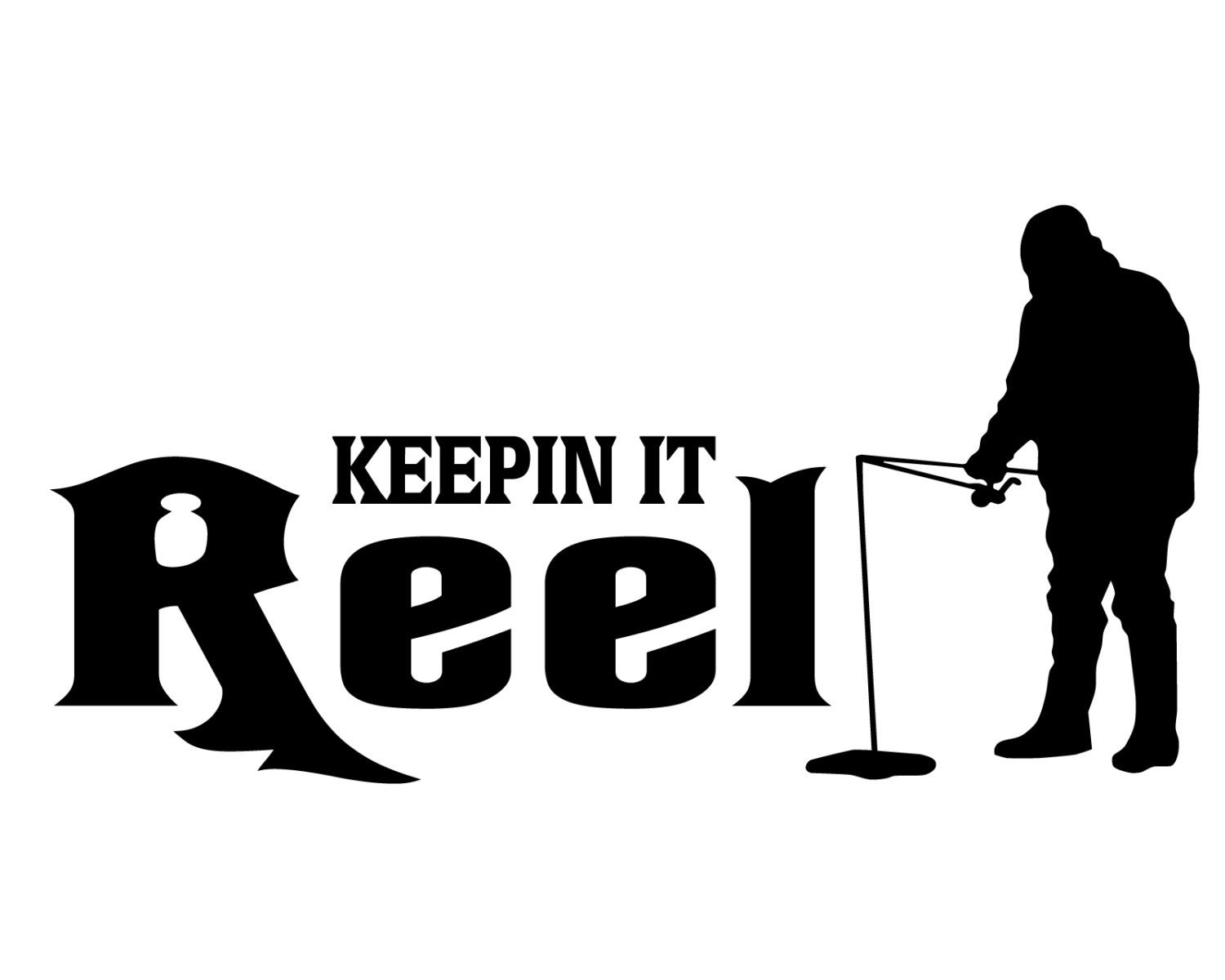 Ice fishing decal keepin it reel ice fish sticker for Fishing stickers and decals