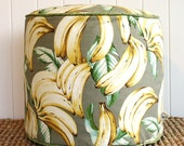 "Tropical Banana pouf ottoman floor seat | Round 45cm or 18"" diameter"