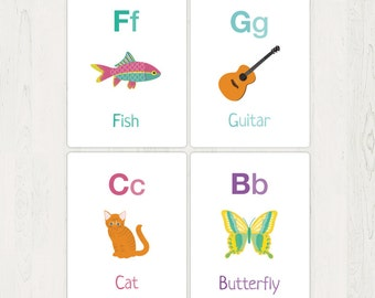 Alphabet Flash Cards or Game Download - Personal Use