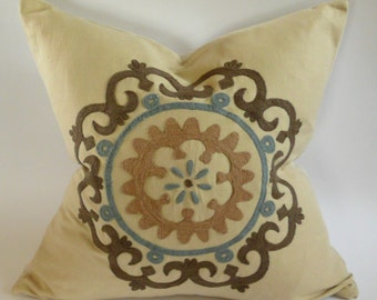 Schumacher Suzani Embroidered Pillow Cover