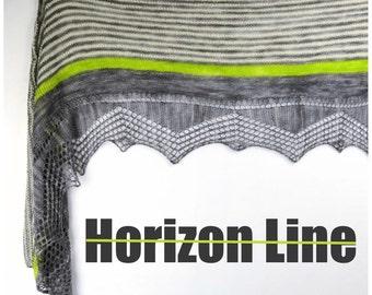 Horizon Line - Nautical Rectangular Knitted Shawl Pattern .pdf