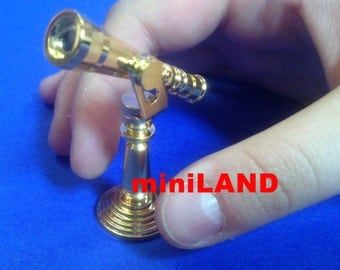 Brass metal telescope for Dollhouse miniature 1:12 scale mini