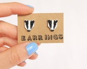 Earrings: Badger