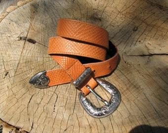 Vintage Belt  - Ornate Buckle Belt