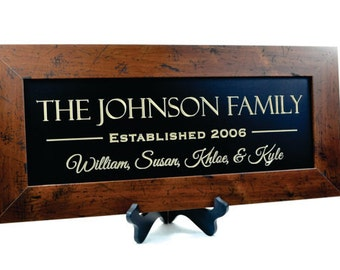 Custom Carved Family Sign...10 x 22 inches