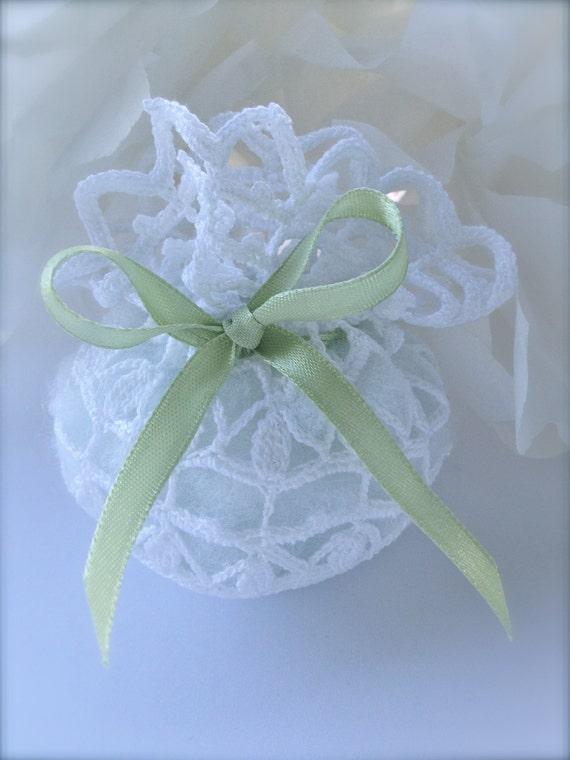 similar to crochet wedding favor baby shower white bag on etsy