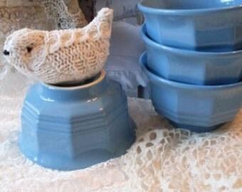 Set of 4 Robins Egg Blue Country Pfaltzgraff Bowls   TheWareHouseShelf  Collectibles  We Ship Internationally