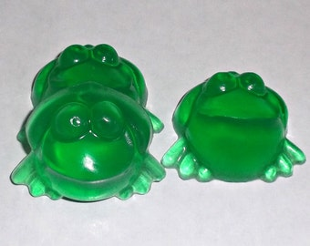 Frog Party Favors - Frog Favors, Frog Baby Shower, Frog Birthday Party, Frog Soap - Set of 15