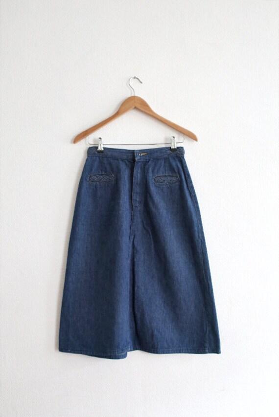 vintage wrangler high waisted denim skirt size 10