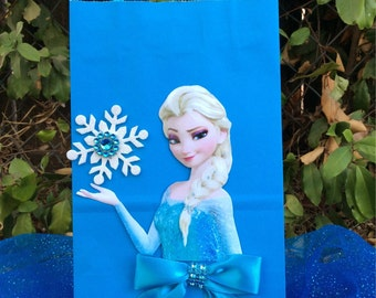 Frozen Disney Princesses Elsa 6 Birthday Party Favor Bags